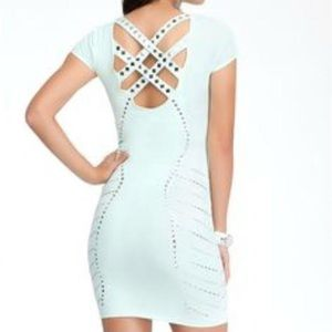 Bebe bodycon studded cocktail/party dress